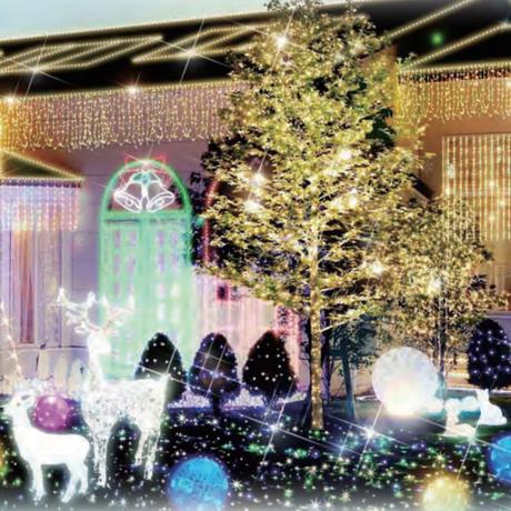 イルミネーション ディスプレイ 飾り 照明 ライティング クリスマス  LED スター カーテン 6連【LDCM051】CR-80