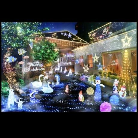 イルミネーション ディスプレイ 飾り 照明 ライティング クリスマス  星 白色LED 3D クリスタルスターライト(90㎝)【L3D263】CR-87