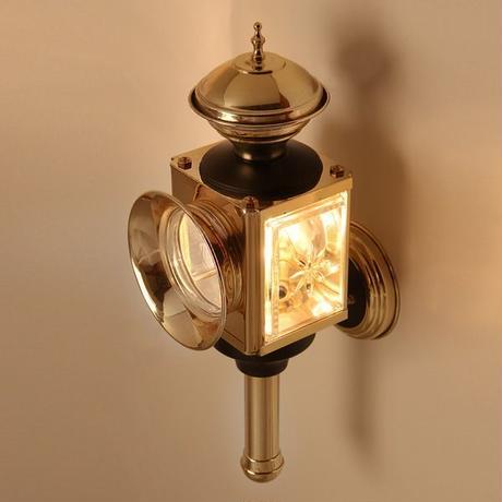 100V LED 【 DEN HAAN ROTTERDAM  デンハーロッテルダム 】 真鍮 キャリッジランプ 馬車 室内外 ドライビングランプタイプ 照明 ライト アンティーク  GA9-182