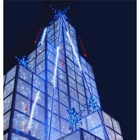LED イルミネーション 流れ 点滅 ディスプレイ 飾り 照明 ライティング クリスマス スノーホール ストリングライト 自動点滅 庭 ガーデン 家 白 CR-43