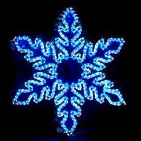 イルミネーション ディスプレイ 飾り 照明 ライティング クリスマス  雪 LEDスノーフレーク 白・青色【L2DM242】CR-75