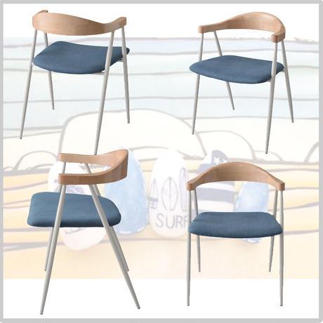 アームチェア 椅子 ダイニング【東谷 Azumaya】家具 インテリア ホワイト ブルー 天然木 肘掛け ディスプレイ カフェ AZ ( TEC-73 )