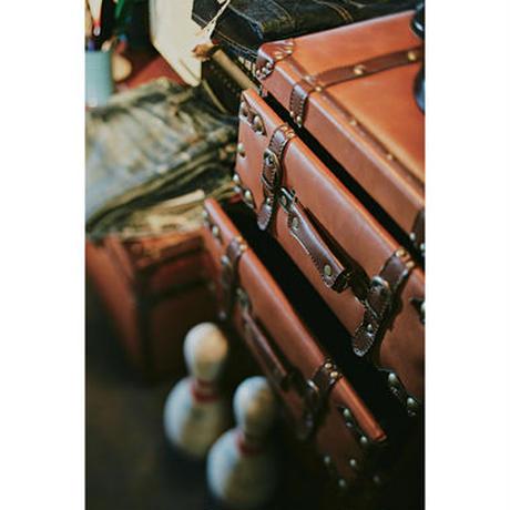 チェスト 収納【Azumaya 東谷】トランク型 3段 ブラウン 収納BOX インテリア ディスプレイ AZ ( IW-273 )