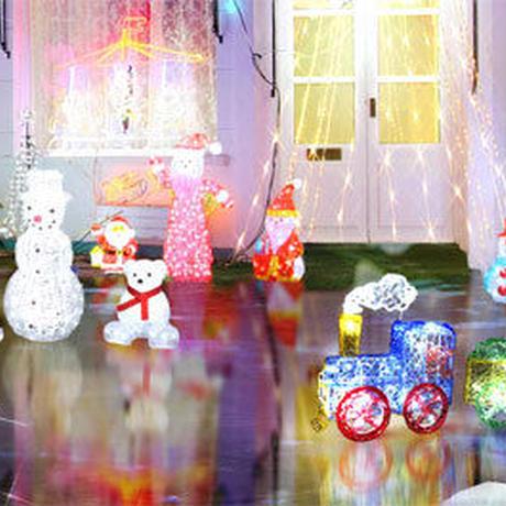 LED イルミネーション ディスプレイ 飾り 照明 ライティング クリスマス  雪だるま スノーマン 【 L3D140 】CR-82