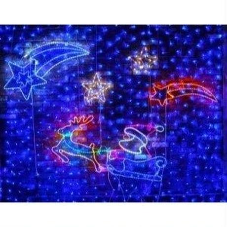 イルミネーション ディスプレイ 飾り 照明 ライティング クリスマス  ダブルスター 白・青色【L2DM502】