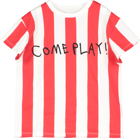 BEAU LOVES Tシャツ  Tomato Red, Come Play