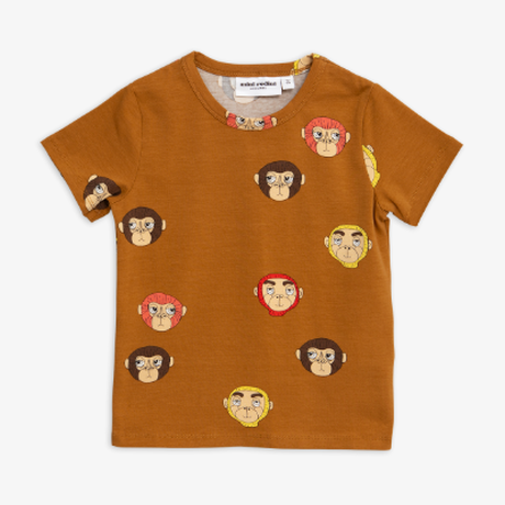 mini rodini ミニロディーニ  MONKEYS PRINTED T-SHIRT  Tシャツ 定価$39