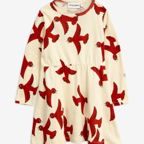 mini rodini ミニロディーニ    FLYING BIRDS LONG SLEEVE DRESS  ワンピース  定価$69