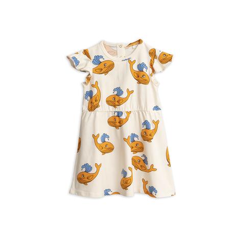 mini rodini ミニロディーニ  WHALE WOVEN DRESS  ワンピース  定価$89