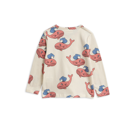 mini rodini ミニロディーニ  WHALE  PRINTED LONG SLEEVE T-SHIRT ロング Tシャツ 定価$45