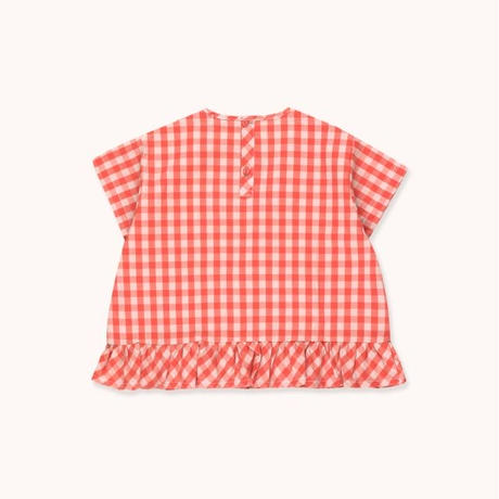 "tiny cottons タイニーコットンズ  TINY"" FRILL VICHY BLOUSE シャツ ブラウス"