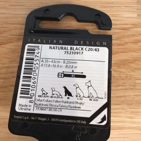 ferplast  犬用首輪  Mサイズ   C20/43ブラック