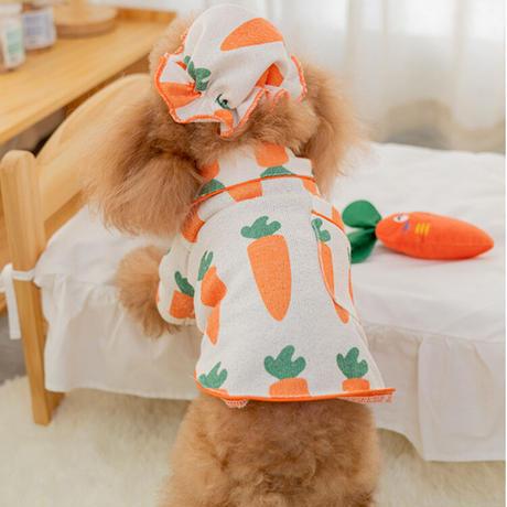 キャップ付きキャロットパジャマ