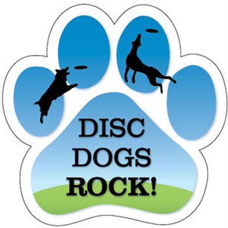 """カーマグネット """"Disc Dogs Rock!""""【送料無料】"""