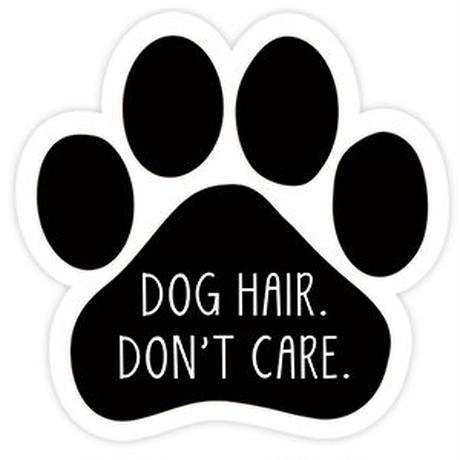 """カーマグネット """"Dog hair, don't care""""【送料無料】"""