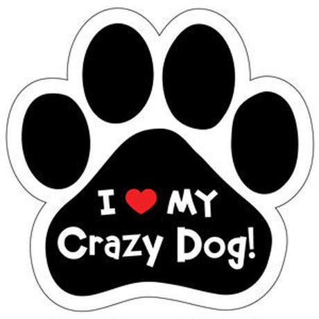"""カーマグネット """"I love my Crazy Dog!""""【送料無料】"""