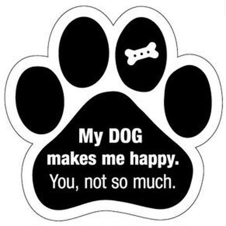"""カーマグネット """"My dog makes me happy...""""【送料無料】"""