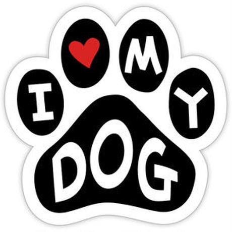 """カーマグネット """"I love my dog""""【送料無料】"""
