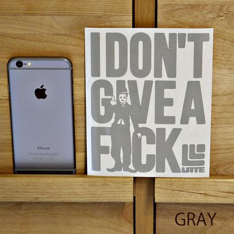 『I DON'T GIVE A F××K』カッティングステッカー ホワイト、ブラック、レッド、グリーン、ブルー、グレイ、キャメル、シルバー、ゴールド