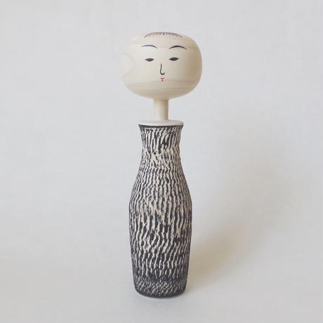 ビリカンナこけし(墨)<6寸>