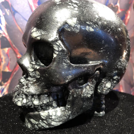 Natural  Picasso  Jasper Large Skull