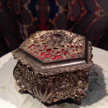 Antique Skull Jewelry Box