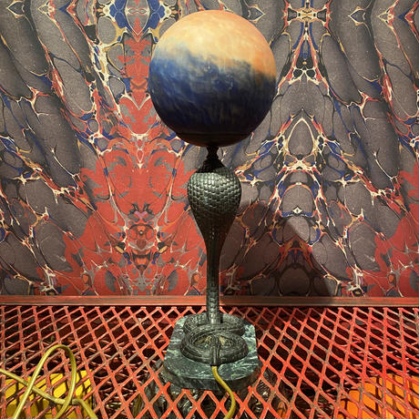 Vintage Bronze Cobra Table Lamp