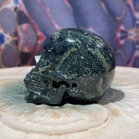 Natural kambaba Jasper  Skull  【2】