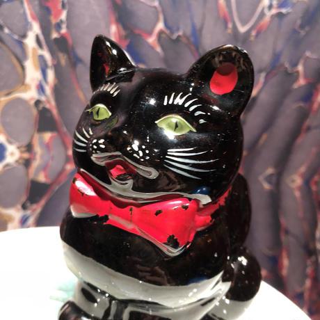 Vintage Shafford Black Cat  Sugar Bowl