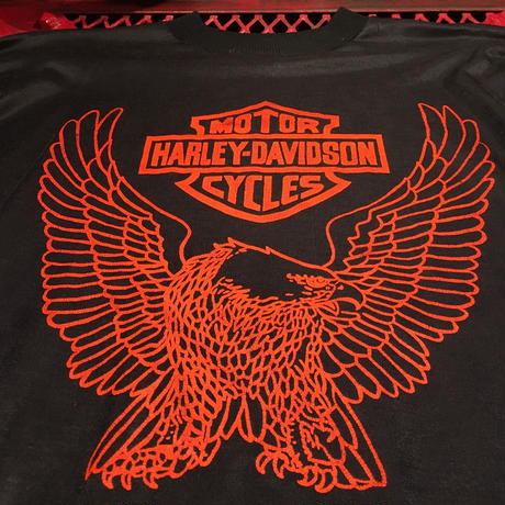Vintage  80's  Harley Davidson  Long  Sleeve  Tee