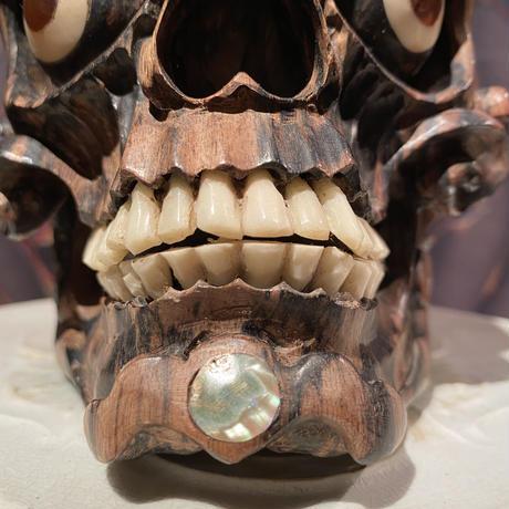 Tibetan Wood Skull