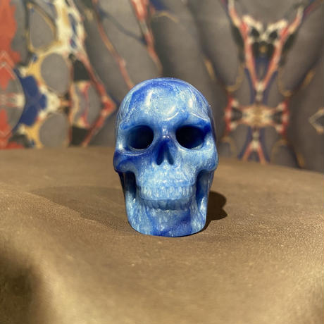 Natural Blue Aventurine Skull
