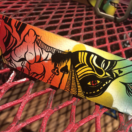 """South Paradiso  Leather  Psychedelic  Belt  34"""""""
