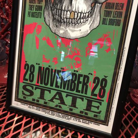 Vintage  Poster 【 KING CRIMSON 】Concert Silkscreen