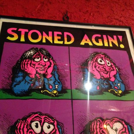 Vintage  Poster   R.CRUMB  【STONED  AGIN!】