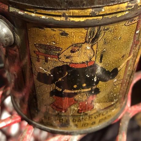 Antique  Lovell & Covell  Rabbit Tin Pail