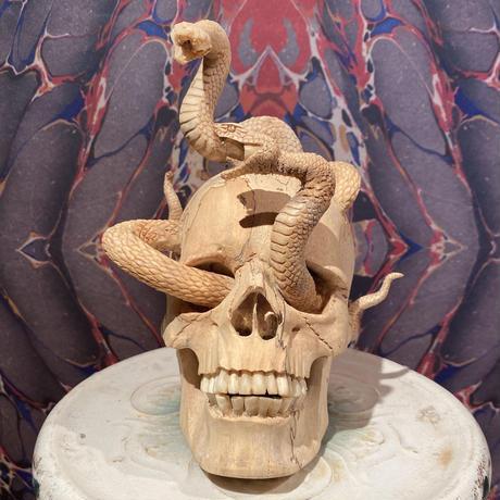 Wood & Bone Medusa Skull