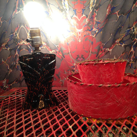 Vintage  Double  Shade  Table  Lamp
