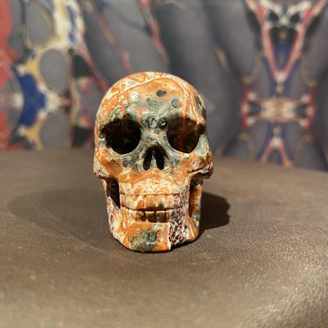 Natural Leopard  Jasper  Skull