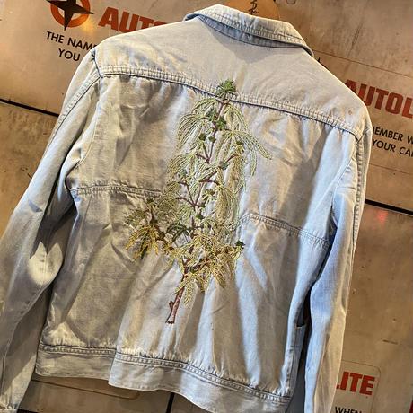 Vintage  70's  Marijuana Custom  Denim Jacket