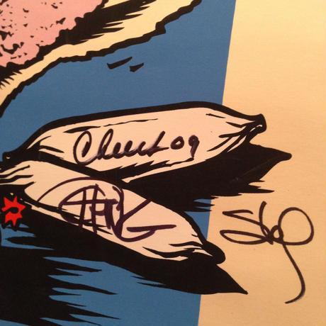 Original Signed  Cheech and Chong  Poster