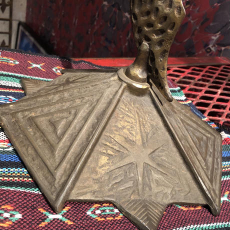 Vintage Masonic  Brass  Ashtray  Stand