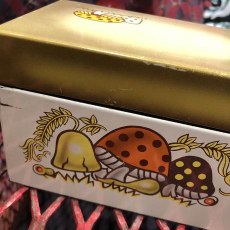 Vintage mushroom  Tin recipe box