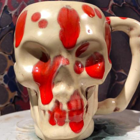 Vintage Bloody Skull  Mug