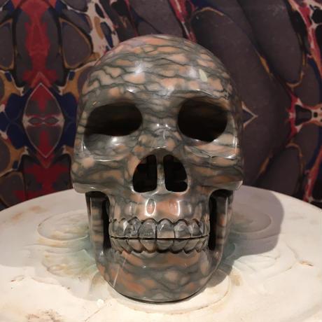Natural Jasper Large Skull