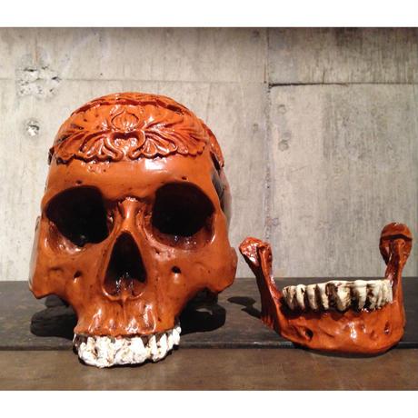 1:1  Real  Resin  Carving  Human  Skull