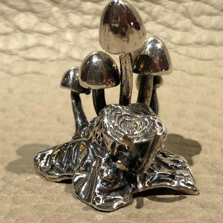 Sterling  Silver  Dope Mushroom