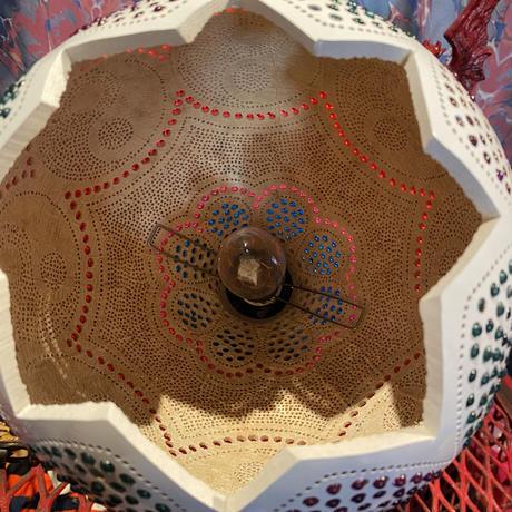 Hand Made Yin Yang  Wood Lamp