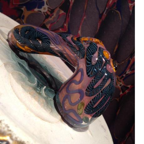 Swirl Glass Hand Pipe