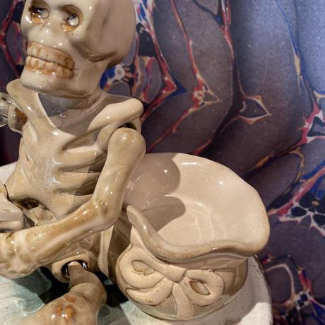 Vintage Ceramic Skeleton  Tray